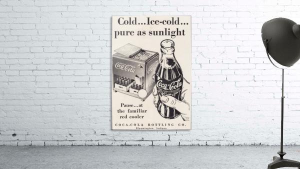 Vintage Coke Ad Bloomington Indiana