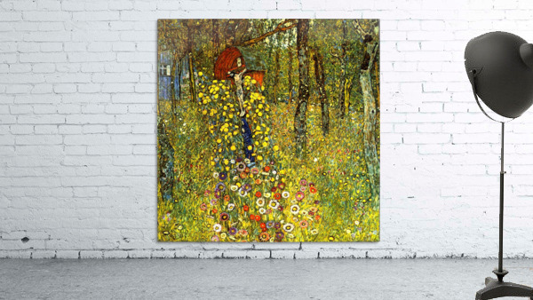 Garden with crucifix by Klimt