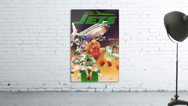 vintage new york jets poster art artist george zebot row one brand sports posters
