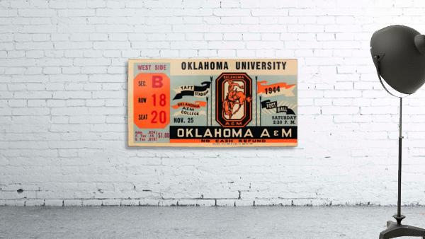1944 oklahoma sooners osu cowboys ticket stub metal sign college football tickets wood prints art r1
