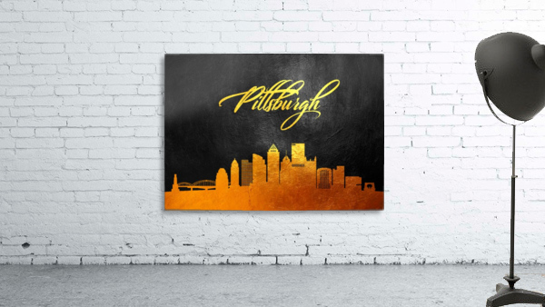 Pittsburgh Pennsylvania Skyline Wall Art