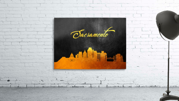 Sacramento California Skyline Wall Art
