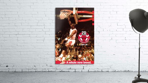 1985 Michael Jordan Dunk Poster Bulls 20th Anniversary