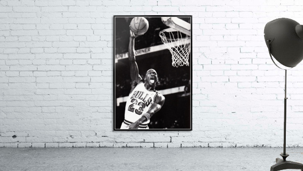 Retro Eighties Michael Jordan Basketball Art Print