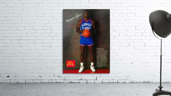 1987 McDonalds Michael Jordan Ad Poster