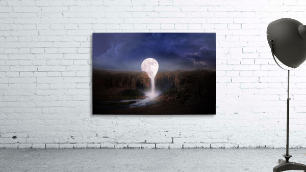moon landscape night fantasy