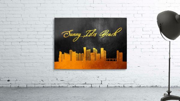 Sunny Isles Beach Florida Skyline Wall Art
