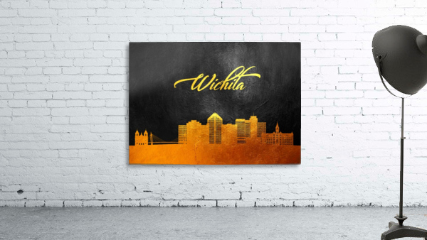 Wichita Kansas Skyline Wall Art