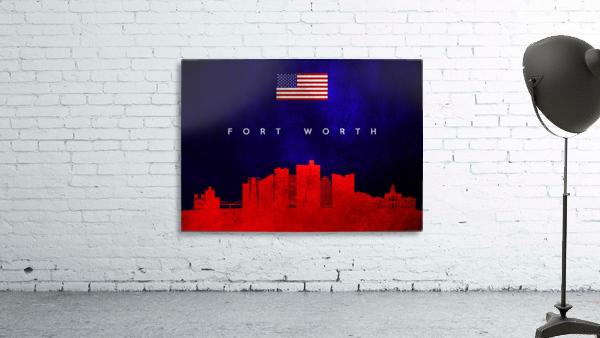 Fort Worth Texas Skyline Wall Art