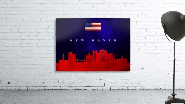 New Haven Connecticut Skyline Wall Art