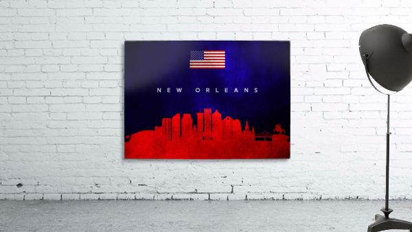 New Orleans Louisiana Skyline Wall Art