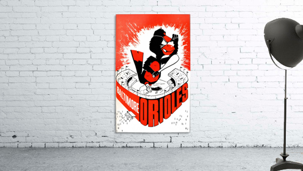 hal decker artist baltimore orioles poster