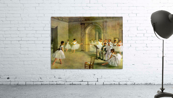 Hall of the Opera Ballet in the Rue Peletier by Degas