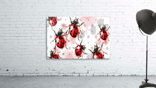 ladybugs pattern texture watercolor_