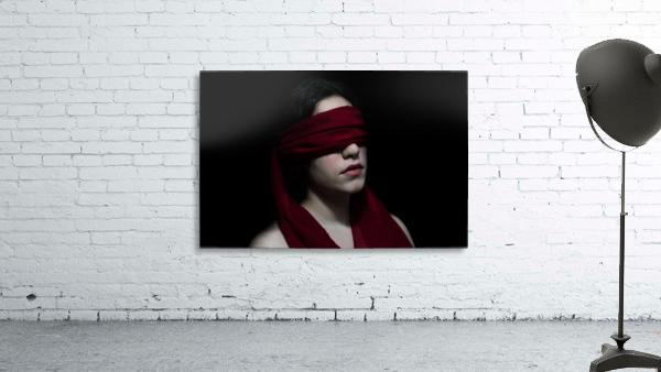 low key dark girl portrait