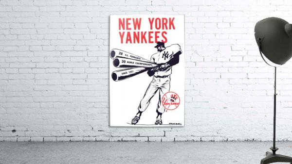 Artist Willard Mullin New York Yankees Art Poster