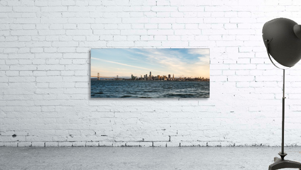San Francisco City Skyline At Sunset