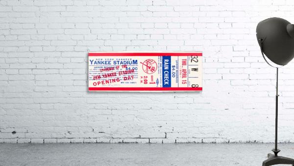 1976 new york yankees yankee stadium ticket stub art poster