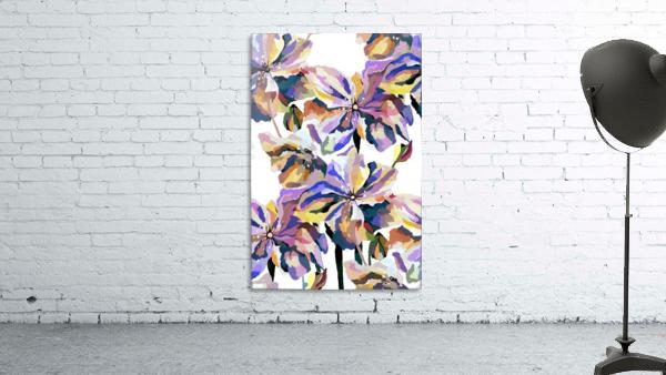 Watercolor Vintage Retro Floral Pattern
