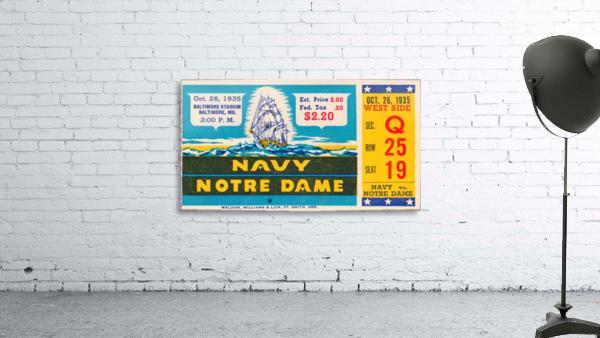 1935 Notre Dame vs. Navy Ticket Stub Wall Art
