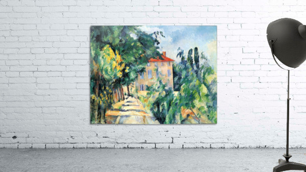 House with Red Roof by Cezanne