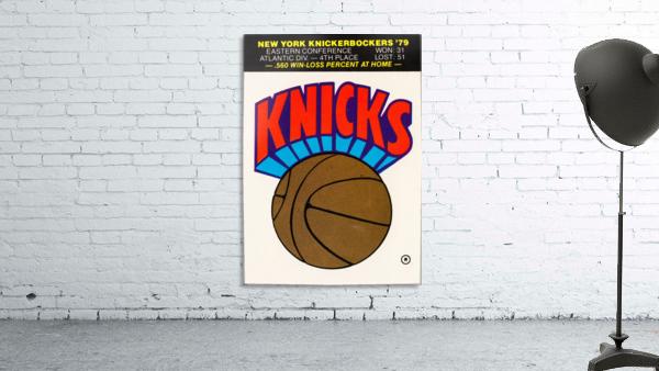 1980 New York Knicks Fleer Decal Art