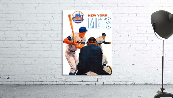 retro new york mets poster