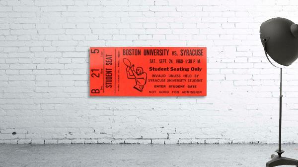 syracuse football ticket stub wall art