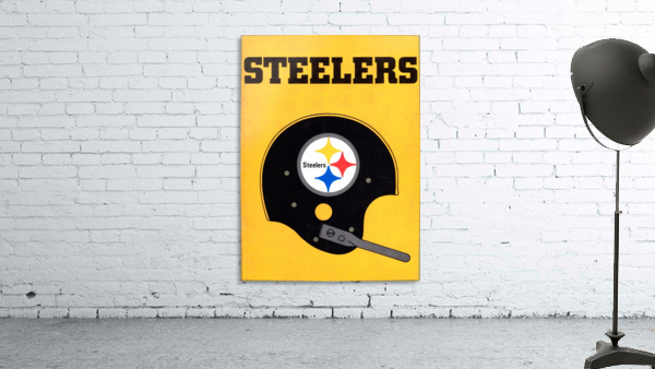 1968 Pittsburgh Steelers Helmet Poster