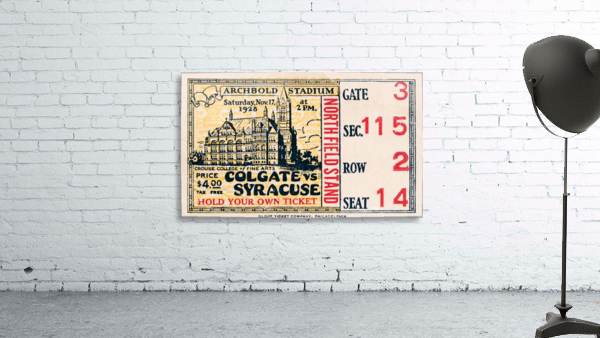 1928 Colgate vs. Syracuse