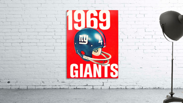 1969 new york giants football poster