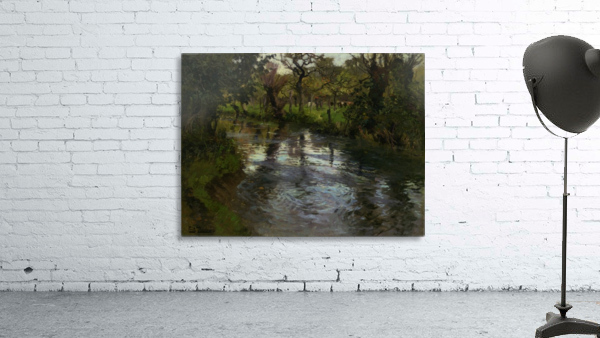 Woodland Scene with a River