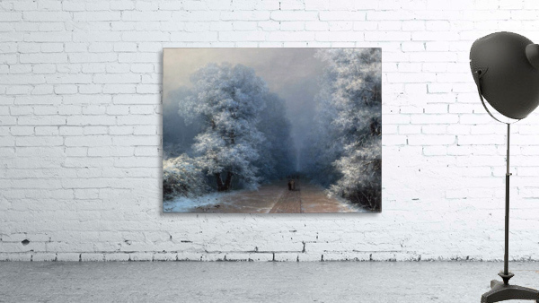 Winter landscape and alley