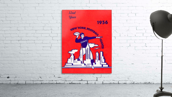 1956 new york giants vintage nfl poster
