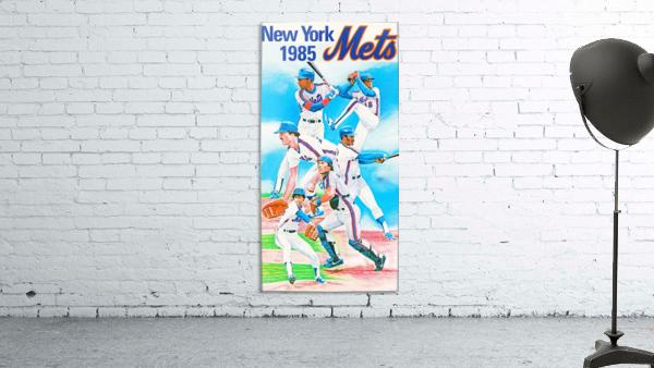 1985 new york mets baseball poster