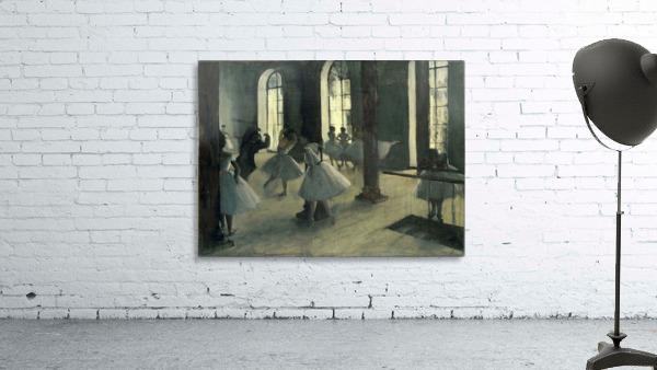 La Repetition au foyer de la danse by Degas