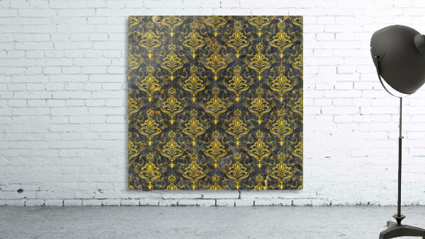 Golden pattern with marble