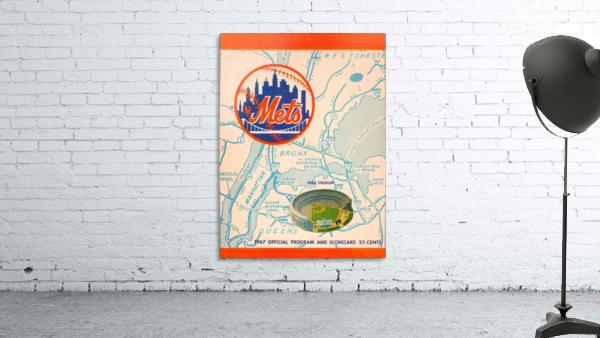 1967 new york mets vintage baseball scorecard poster wall art