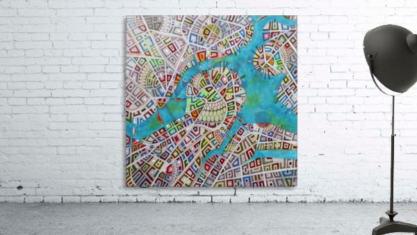 imaginary map of Boston