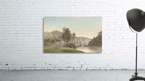 River Landscape with Distant Cliffs
