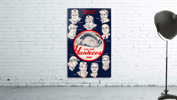 1960 New York Yankees In The Hall Of Fame Art