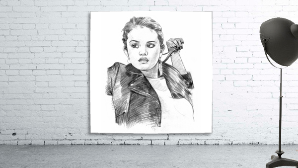 Selena Gomez - Celebrity Pencil Art