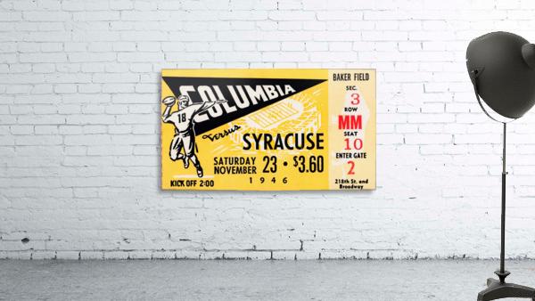 1946 columbia syracuse football ticket stub art number 18 jersey