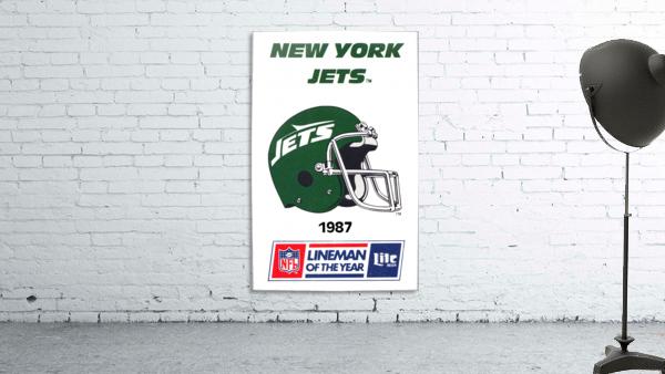 1987 new york jets vintage nfl poster