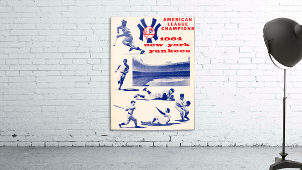 1964 new york yankees american league champions poster