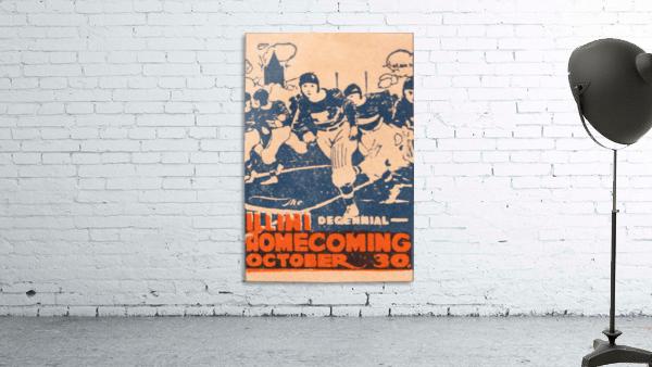1920 illinois illini football homecoming art