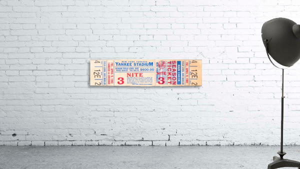 1982 new york yankees season ticket $600