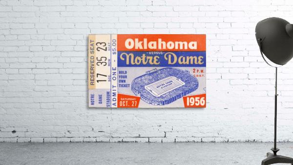 1956 oklahoma notre dame college football ticket stub wall art