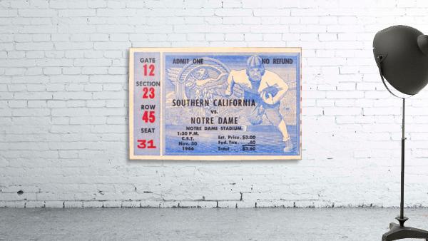 1946 notre dame southern california ticket stub framed prints