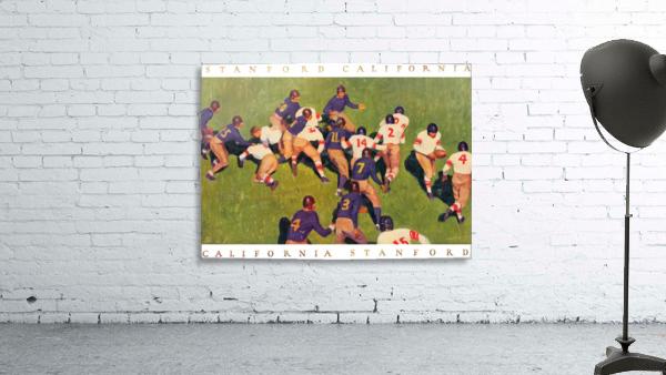 1927 cal stanford big game art vintage college football